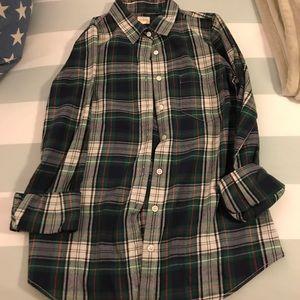Jcrew Perfect Shirt Flannel Plaid XS